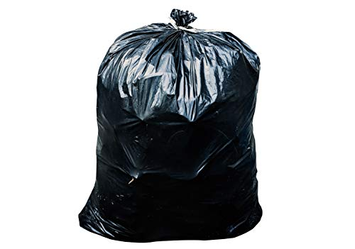 65 Gallon Trash Bags for Toter (Black, 50 Garbage Bags Per Case)