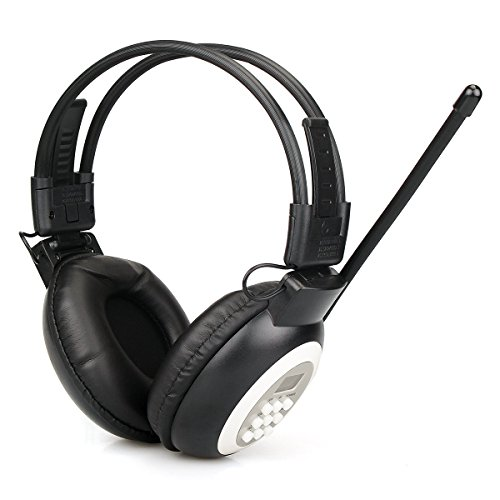 Retekess TR101 Headphone FM Radio, Wireless Radio Headset with AUX, FM Receiver Headphones for Walking, Ear Muffs Radio for Mowing, AA Battery Powered