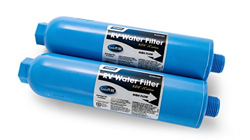 Camco 40045 TastePURE Inline RV Water Filter, Greatly Reduces Bad Taste, Odors, Chlorine and Sediment in Drinking Water (2 Pack)