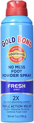 Gold Bond Foot Spray 7z, No Mess, Medium ( Pack Of 4 )