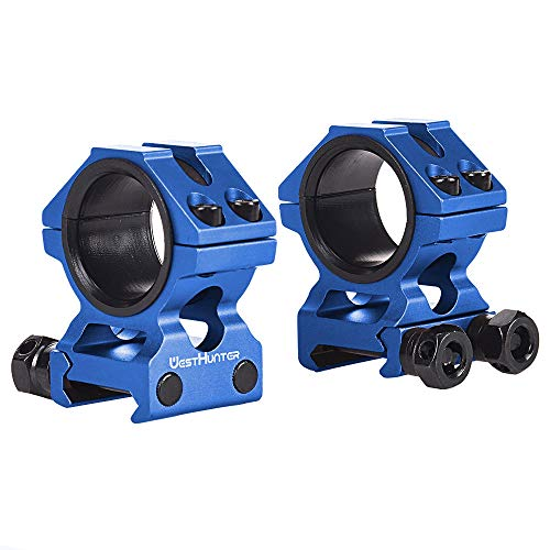 WestHunter Optics Picatinny Rifle Scope Rings,1'/30mm Tube Universal Tactical Precision Low Profile Scope Mount for Hunting,Blue