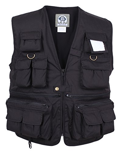 Rothco Uncle Milty Travel Vest, Black, Large