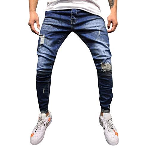 Louyue Mens Super Comfy Straight Stretch Knit Jersey Denim Five Pocket Jean