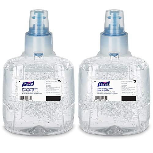 PURELL Advanced Green Certified Hand Sanitizer Gel, 1200 mL Sanitizer Refill for PURELL LTX Touch-Free Dispenser (Pack of 2) - 1903-02