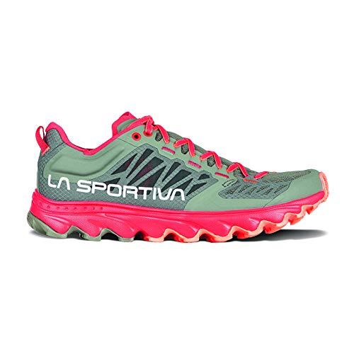 La Sportiva Helios III Mountain Running Shoe - Women's Clay/Hibiscus 40