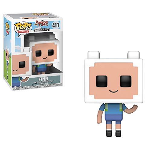 Funko 32235 Pop Television: Adventure Time-Minecraft Finn Collectible Figure, Multicolor