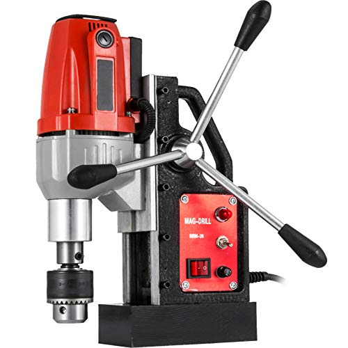 Mophorn 980W Magnetic Drill Press with 1-1/3 Inch (35mm) Boring Diameter Magnetic Drill Press Machine 2700 LBS Magnetic Force Magnetic Drilling System 680 RPM Portable Electric Magnetic Drill Press
