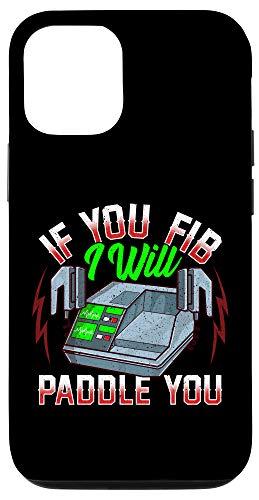 iPhone 12/12 Pro Funny EMT FireFighter Police Office Defibrillator Pun Case