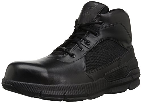Bates Men's Charge-6 Composite Toe Side Zip Military and Tactical Boot, Black, 10.5 M US