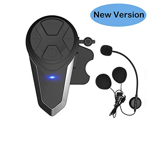 THOKWOK Motorcycle Bluetooth Headset,BT-S3 1000m Helmet Headphones for Snowmobile Motorcycle Bluetooth Communication System Ski Intercom Up to 3 Riders(Boom Microphone, Pack 1)