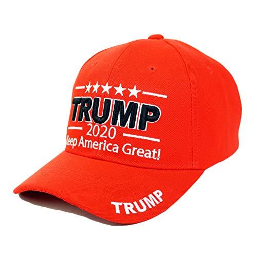 Bingoo Trump 2020 Keep America Great Embrodiery Campaign Hat USA Baseball Cap (3D- Red)
