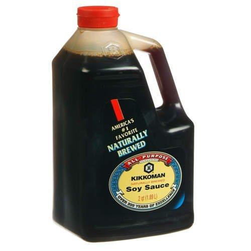 Kikkoman Soy Sauce, 64 Fl Oz (Pack of 1)