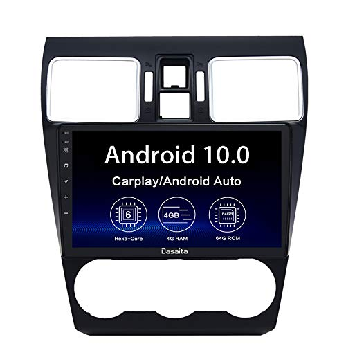 Dasaita 9' Android 10 Stereo for Subaru Forester WRX 2016 2017 2018 2019 bluetooth Radio GPS Navigation Head Unit 4G 64G PX6 DSP Android Auto 1280X720 HD Multimedia Video Player Wireless Carplay