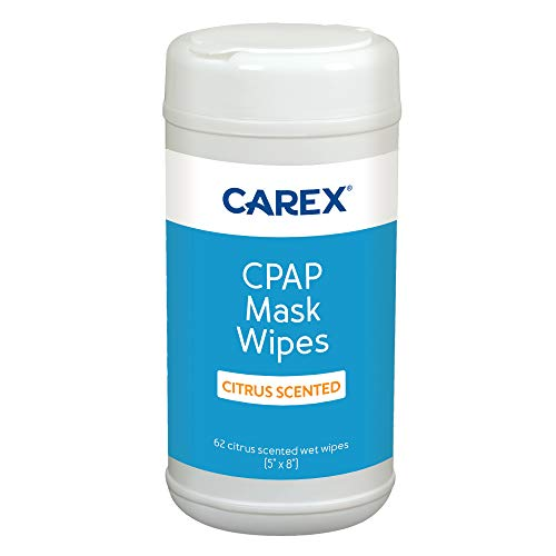 CAREX CPAP Mask Wipes of Citrus Scented, 62 Count