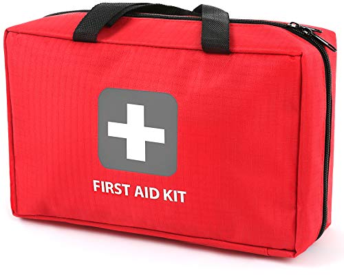 First Aid Kit – 291 Pieces of First Aid Supplies | Hospital Grade Medical Supplies for Emergency and Survival Situations | Ideal for Car, Camping, Hiking, Travel, Office, Sports, Pets, Hunting, Home
