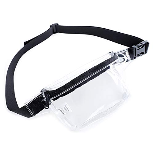 Clear fanny pack for Women,TINYAT Clear Bag Waterproof Waist Pack for Concerts, Sports, Travel and Daily Use