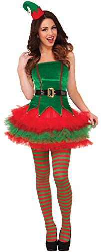 Forum Novelties Women's Sassy Elf Costume, Multi, X-Small/Small