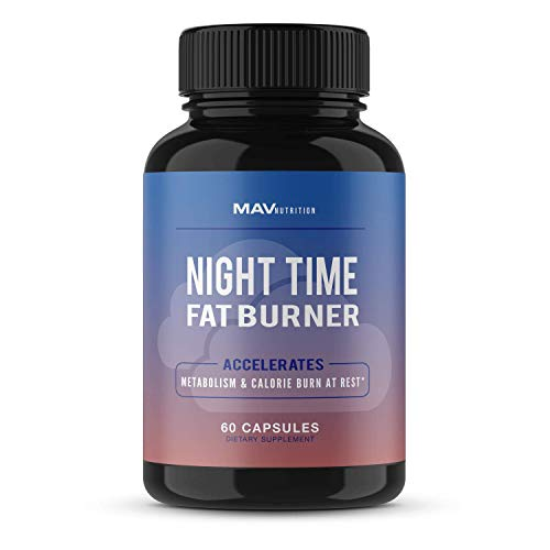 MAV Nutrition Weight Loss Pills Night Time Fat Burner for Women & Men | Sleep Aid Diet Pills, Appetite Suppressant, Metabolism Boost, Carb Blocker; 60 Count