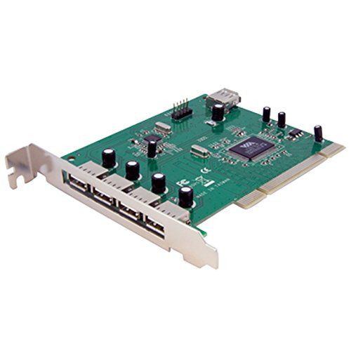 StarTech.com 7 Port PCI USB Card Adapter - PCI to USB 2.0 Controller Adapter Card - Full Profile Expansion Card (PCIUSB7)