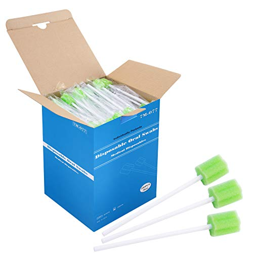 Disposable Untreated Oral Care Swabs, 250 Count (GREEN+plum)