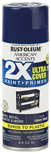 Rust-Oleum 327898 American Accents Spray Paint, 12 Oz, Gloss Navy Blue