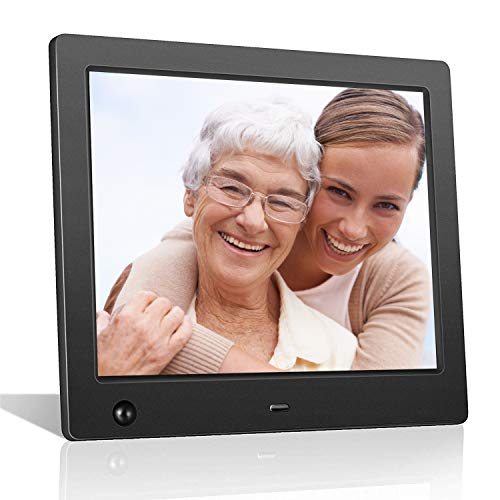 Digital Picture Frame 8 inch Digital Photo Frame with Slideshow Electronic Photo Display with Motion Sensor/High Resolution 180° IPS LCD/Background Music/Calendar/Remote Control by FLYAMAPIRIT