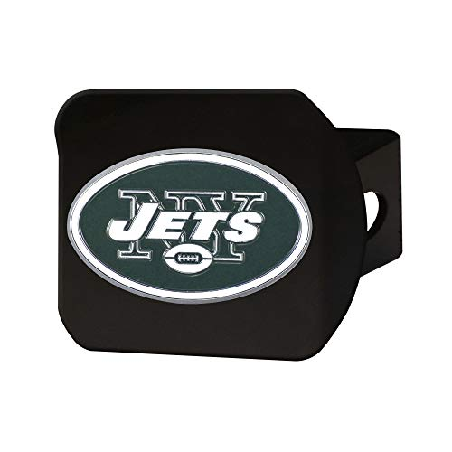 FANMATS NFL New York Jets Metal Hitch Cover, Black, 2' Square Type III Hitch Cover