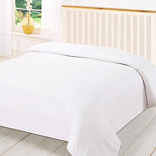 BedDecor 630 Thread Count Egyptian Cotton Duvet Cover, Queen, White
