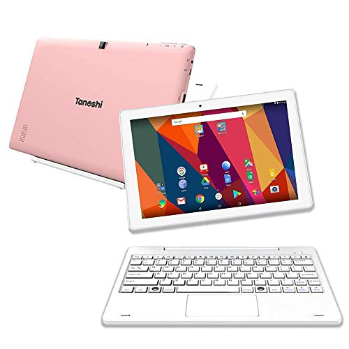 Tanoshi 2-in-1 Kids Computer a Kids Laptop for Ages 6-12, 10.1' HD Touchscreen Display (Pink)