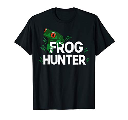 Frog Hunter Gift Little Amphibian Catcher Boys Girls Kids T-Shirt