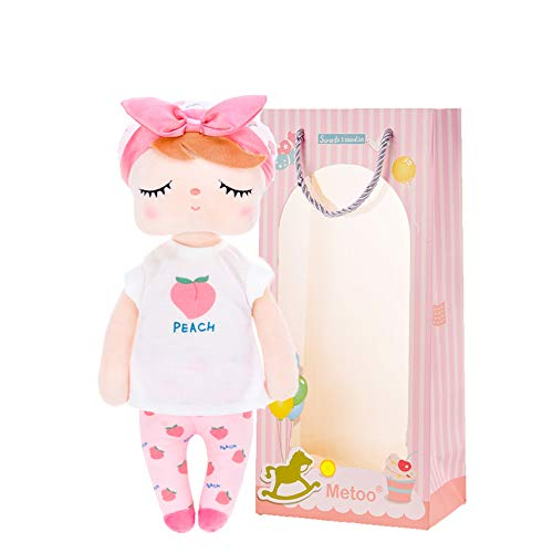 Me Too Baby Doll Girl Gifts Plush Toy Rag Dolls Angela Fruit Girl Toys Peach 13 Inches