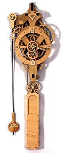 Abong David Wooden Gear Wall Clock Kit - 3D Clock Puzzle Model Kit - DIY Wooden Clock Kit
