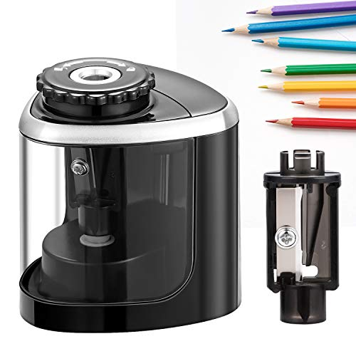 Pencil Sharpener - Electric Pencil Sharpener Blade to Fast Sharpen,Battery-Powered and Easy to Use for Classroom Supplies (6-8mm) in School