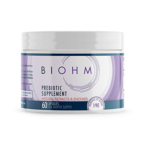 BIOHM Prebiotic Fiber Supplement fo Advanced Gut Health & Immune System Booster, Non-GMO, Vegetarian Friendly, 60 Count