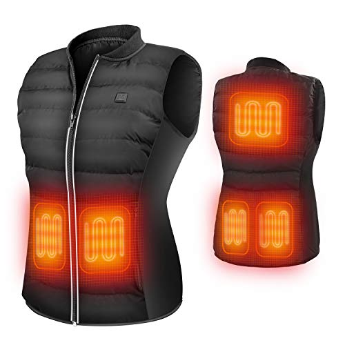 ZLTFashion 5V Heated Vest USB Charging Electric Lightweight Heating Clothing Size Adjustable Warm Vest Washable Heated Jackets for Women Motorcycle Camping (Battery Not Included) …