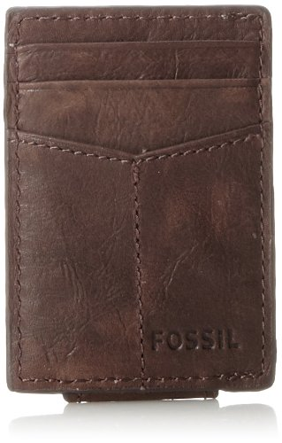Fossil Magnetic Card Case Wallet, Brown