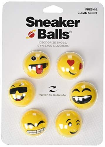 Sof Sole Sneaker Balls Shoe, Gym Bag, and Locker Deodorizer, 6 Pack, Emoji