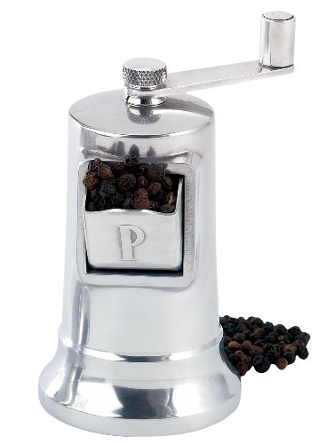 Perfex Adjustable Pepper Grinder Mill, Made in France, High-Carbon Steel Mechanism, 4.5-Inches, Silver