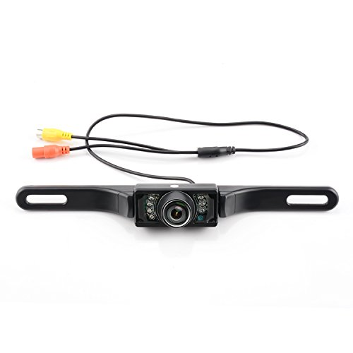 GerTong Waterproof Backup Camera for Car, HD Color Wide Angle Viewing License Plate Car Rear View Camera with 7 Infrared Night Vision LED Lights