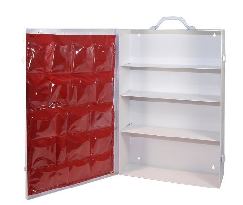Medique Products First Aid Cabinet with Pockets, Medical Storage with 4 Shelves, Empty - 701MTM