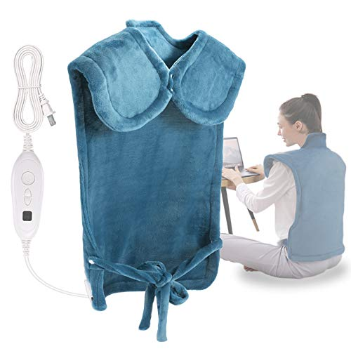 DAILYLIFE Electric Heating Pad 26'x35' Electric Heating Wrap for Neck and Shoulders UL Certified with Overheating Protection | 6 Heating Settings | Auto-Off|Machine Washable