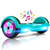 LIEAGLE 6.5' Hoverboard with Bluetooth, Self Balancing Scooter Hover Board for Kids Adults with UL2272 Certified Wheels LED Lights(Green)