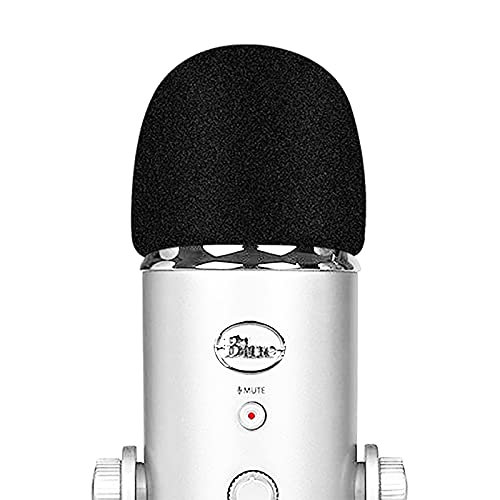Pop Filter Microphone Foam Windscreen Compatible with Blue Yeti, Yeti Pro Condenser Microphone - Mic Cover that Filter Unwanted Recording Noises by TIKmobre