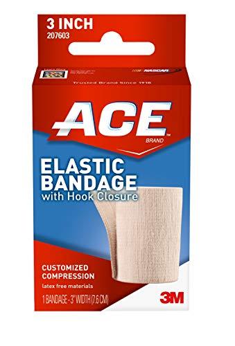 ACE - 4347584506 3' Elastic Bandage with Hook Closure, Beige, 2 pack