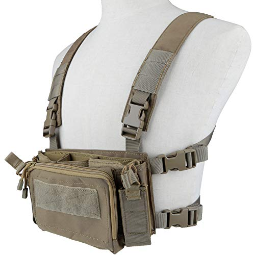 Huenco Camouflage Tactical Vest Airsoft Ammo Chest Rig 5.56 9mm Magazine Carrier Combat Tactical Military