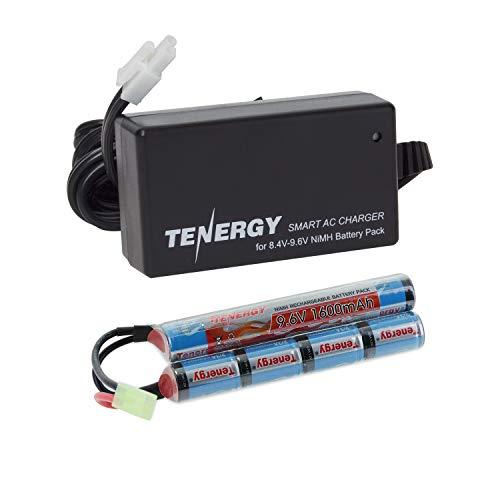 Tenergy Combo 9.6V 1600mAh Butterfly Mini NiMH Battery Pack + 8.4V-9.6V NiMH Smart Charger