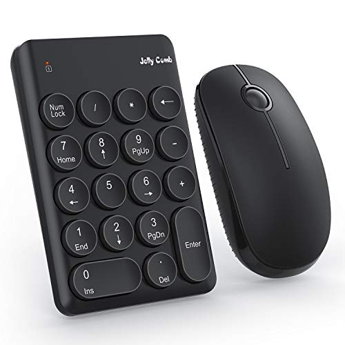 Jelly Comb Wireless Number Pad and Mouse (Black)