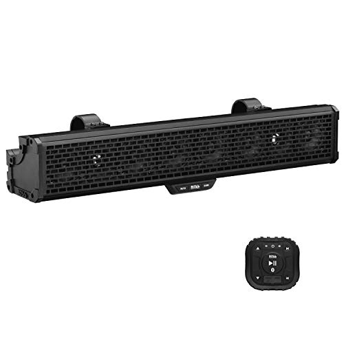 BOSS Audio Systems BRRC27 27 Inch ATV UTV Sound Bar - IPX5 Weatherproof, 3 Inch Speakers, 1 Inch Tweeters, Built-in Amplifier, Bluetooth, Built-in Dome Lights, Easy Installation for 12 Volt Vehicles