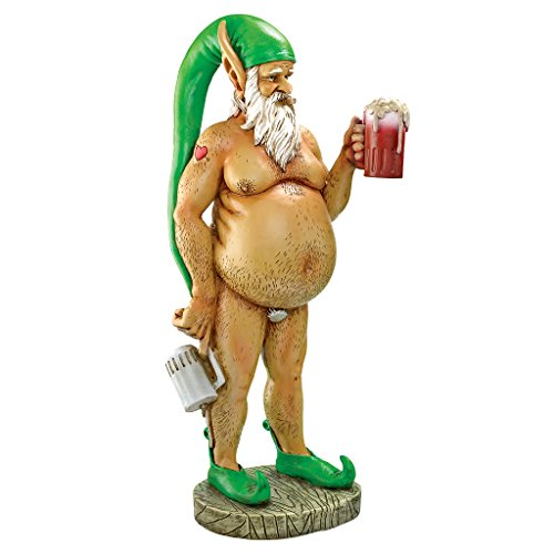 Design Toscano QM14020 Garden Gnome Statue - Oktoberfest Otto Fully Krausened Elf Gnome - Naughty Gnomes - Drunk Gnome,full color