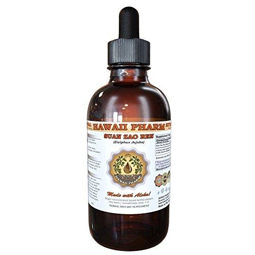 Suan Zao Ren (Ziziphus Jujuba) Tincture, Organic Dried Seeds Liquid Extract, Chinese Date, Herbal Supplement 4 oz